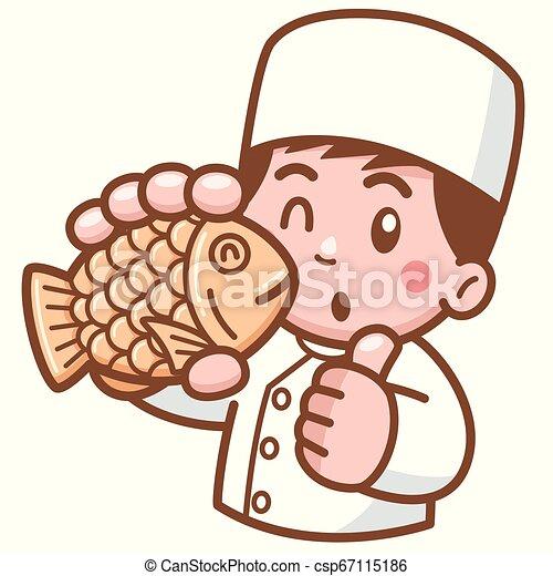 Chef de dibujos animados - csp67115186