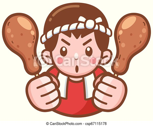 Chef de dibujos animados - csp67115178