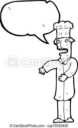 Chef de cartón - csp15532430
