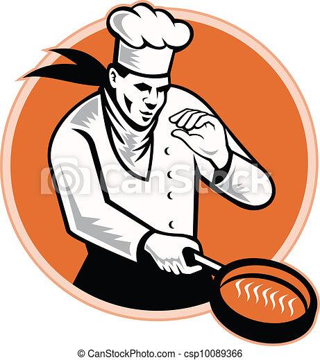 Chef Cook Cooking Pan Circle - csp10089366