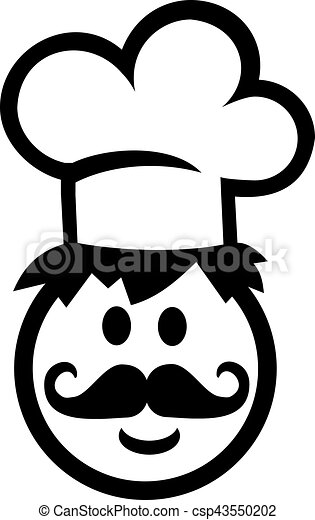 chef cook smiley with chef s hat vector clipart search rh canstockphoto com chef hat vector art chef hat vector icon