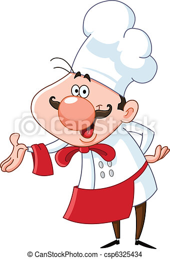 chef cuistot, amical - csp6325434