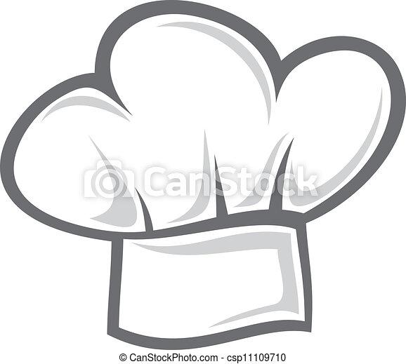 chef cuistot, chapeau blanc - csp11109710