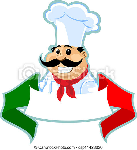 Chef cuistot cuisinier italien tiquette tiquette for Kochen italienisch