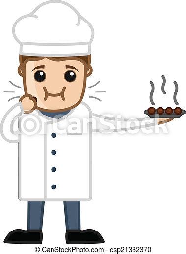 Chef cuistot dessert manger dessin anim manger doux for Salle a manger dessin anime