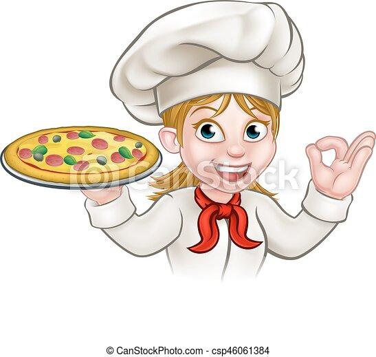 En tenue de cuisiniere a domicile