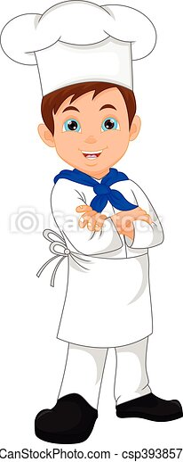 chef cuistot, garçon, dessin animé - csp39385783