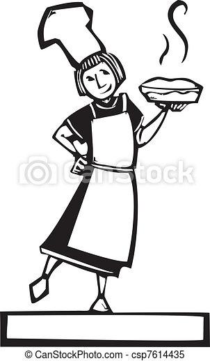 chef cuistot, tarte fraîche - csp7614435