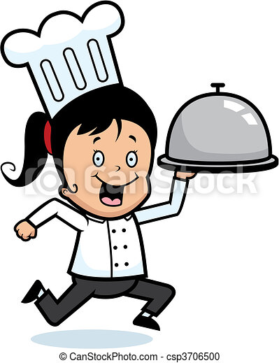 chef delivery a happy cartoon kid chef delivering a tray of food rh canstockphoto com clipart delivery car delivery clipart free