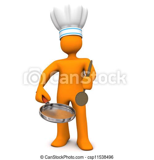 Chef Frying Pan - csp11538496