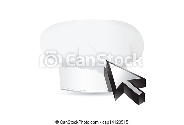 chef hat and cursor. - csp14120515