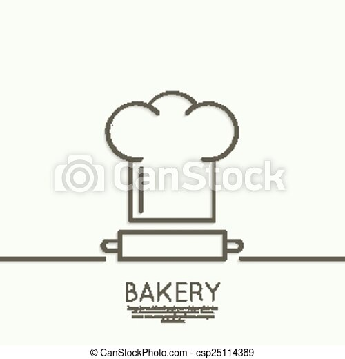 Chef Hat And Rolling Pin For Test Sign Emblem Badge