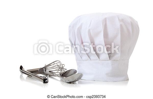 Chef Hat and utensils - csp2393734