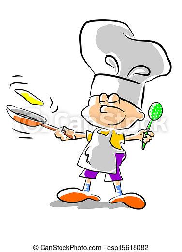 Chef kid - illustration - csp15618082
