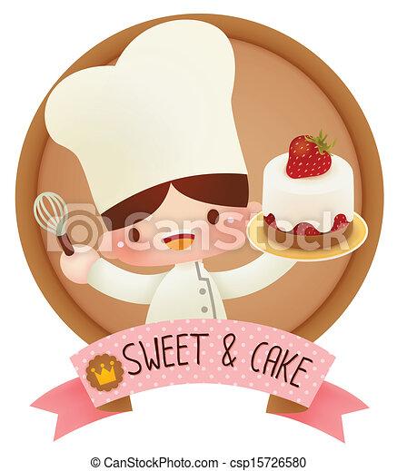 Lindo chef de dibujos animados - csp15726580