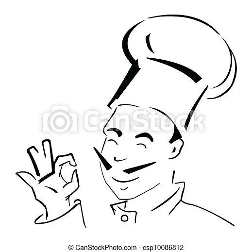 Chef Mascot Vector Illustration - csp10086812