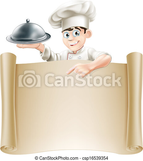 chef, menu, bandiera - csp16539354