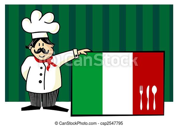 Chef of italian cuisine - csp2547795