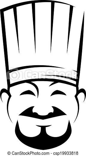 chef, perilla, sonriente, chino, barba - csp19933818