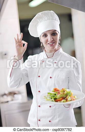 Chef preparando la comida - csp9397782