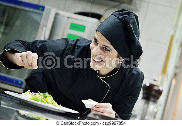 chef preparing meal - csp9927854