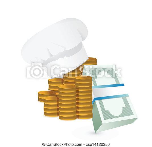 Chef profits or restaurants cost concept - csp14120350