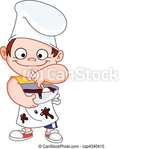 chef, ragazzo - csp4340415