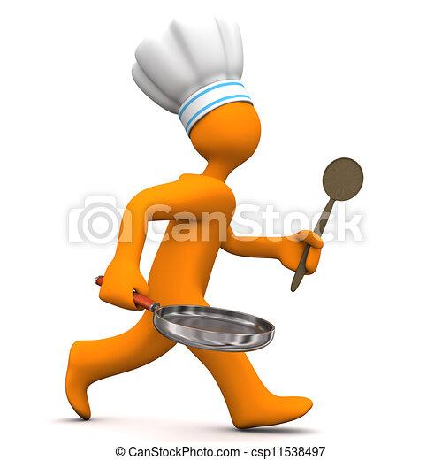 Chef Running - csp11538497
