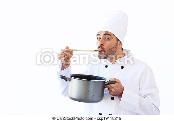 chef, sabor, sopa - csp19118219
