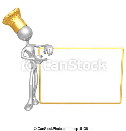 chef, segno bianco - csp1813611