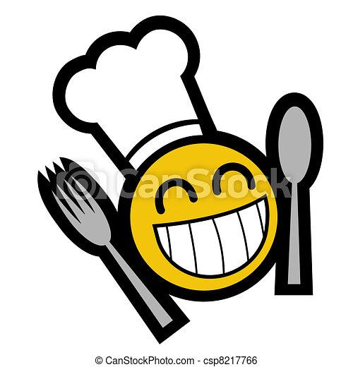 chef, sorriso - csp8217766