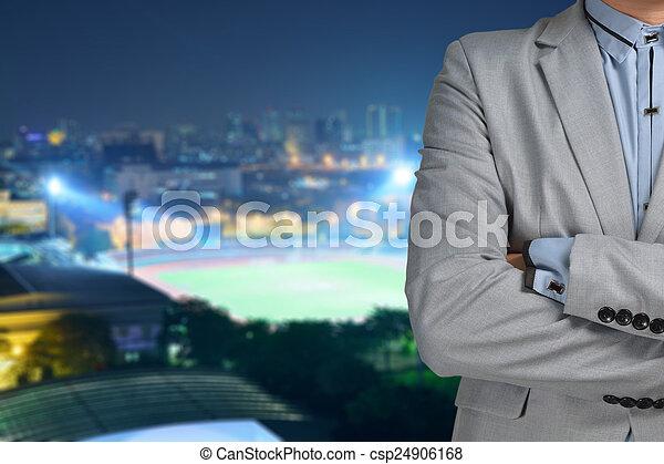 chef, sport, affärsman - csp24906168