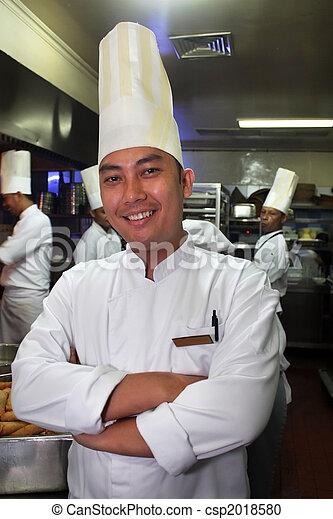 Chef en el trabajo - csp2018580