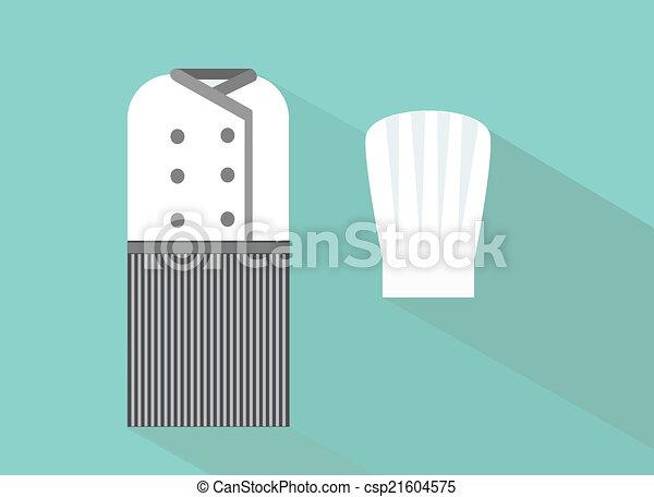 Chef Uniform Flat Modern Design