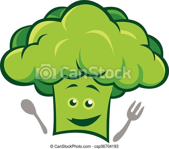Ilustración de chef de brócoli verde - csp36704193