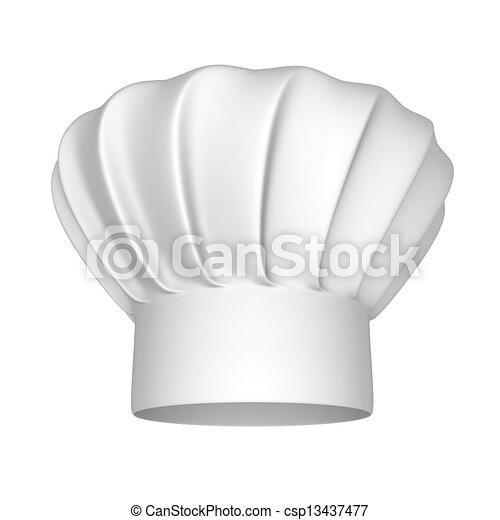 Chef white hat - csp13437477