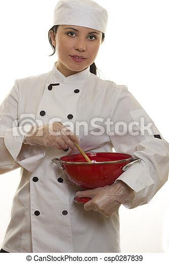 Chef with Kitchen Utensils - csp0287839