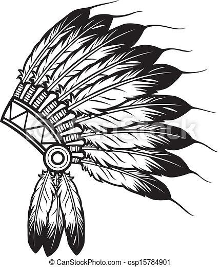 chefe índio, headdress - csp15784901