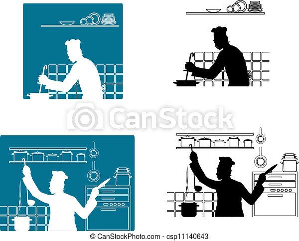 chefs, cuisine, cuisine - csp11140643