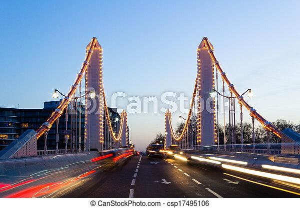 Chelsea Bridge and Traffic - csp17495106