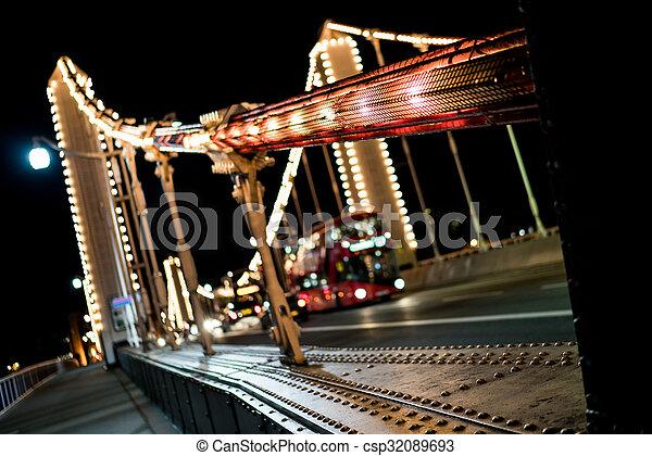 Chelsea bridge bus - csp32089693