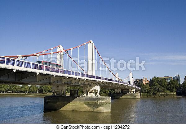 Chelsea Bridge, London - csp11204272