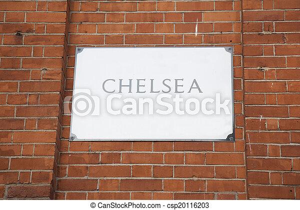 Chelsea Street Sign; London - csp20116203