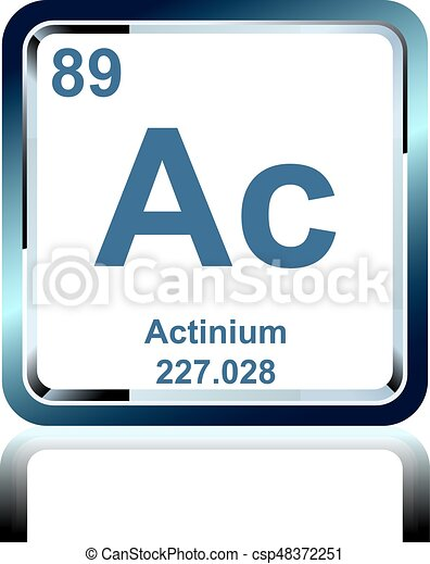 Chemical element actinium from the periodic table symbol of chemical element actinium from the periodic table csp48372251 urtaz Image collections