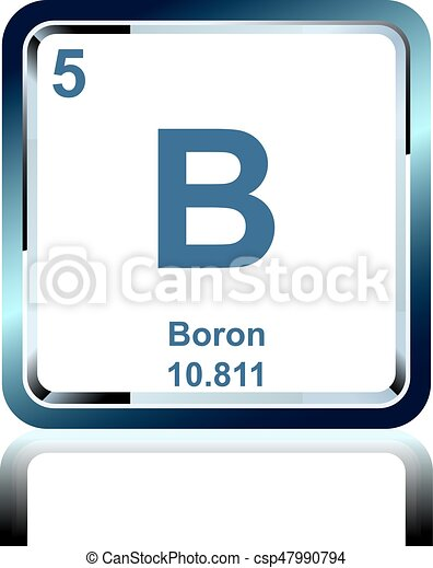 Chemical Element Boron From The Periodic Table Symbol Of Chemical