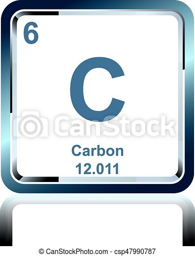 Chemical Element Carbon From The Periodic Table Symbol Of Chemical