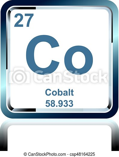 Chemical Element Cobalt From The Periodic Table Symbol Of Chemical