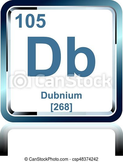 Chemical Element Dubnium From The Periodic Table Symbol Of Chemical