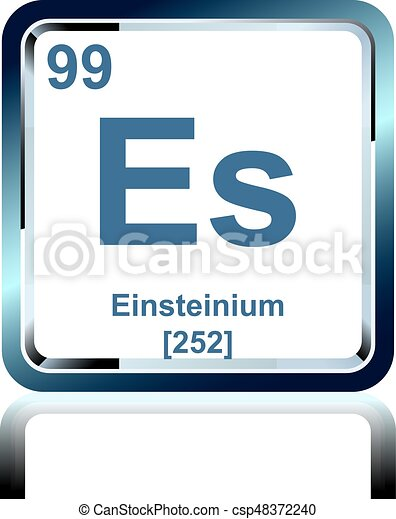 Chemical Element Einsteinium From The Periodic Table Symbol Of