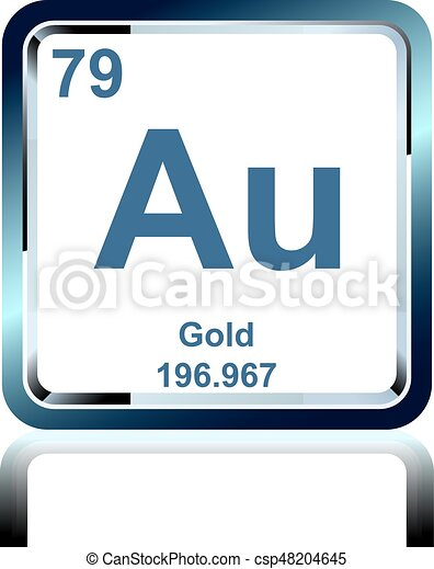 Chemical Element Gold From The Periodic Table Symbol Of Chemical